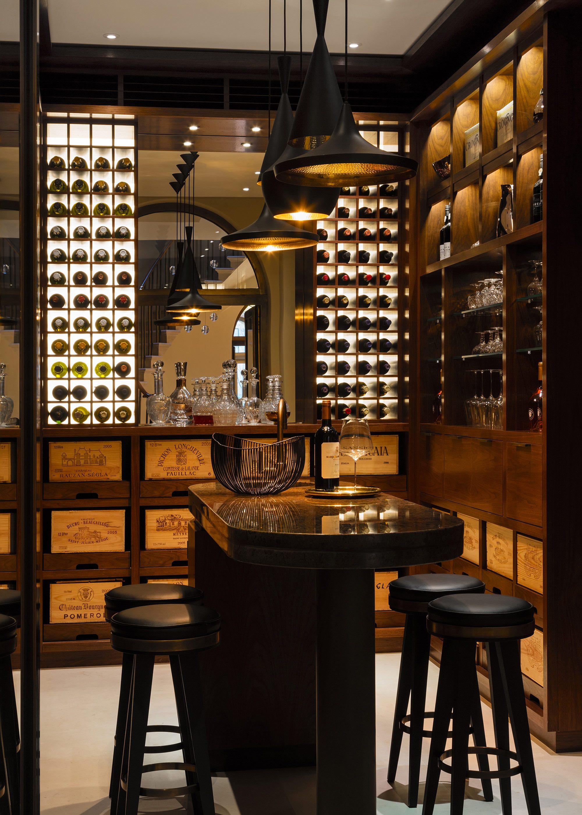 Honky Interior Design Hampstead London Wine Cellar