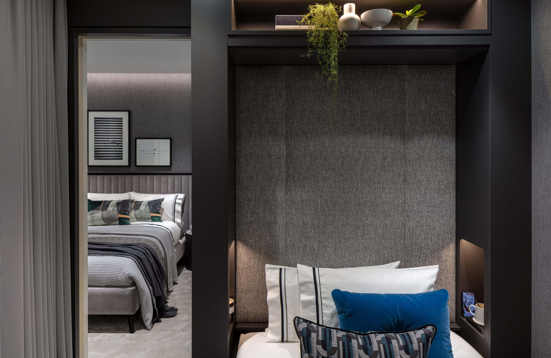 Honky Interior Design Luxury Apartment Hackney Road Bedroom 1