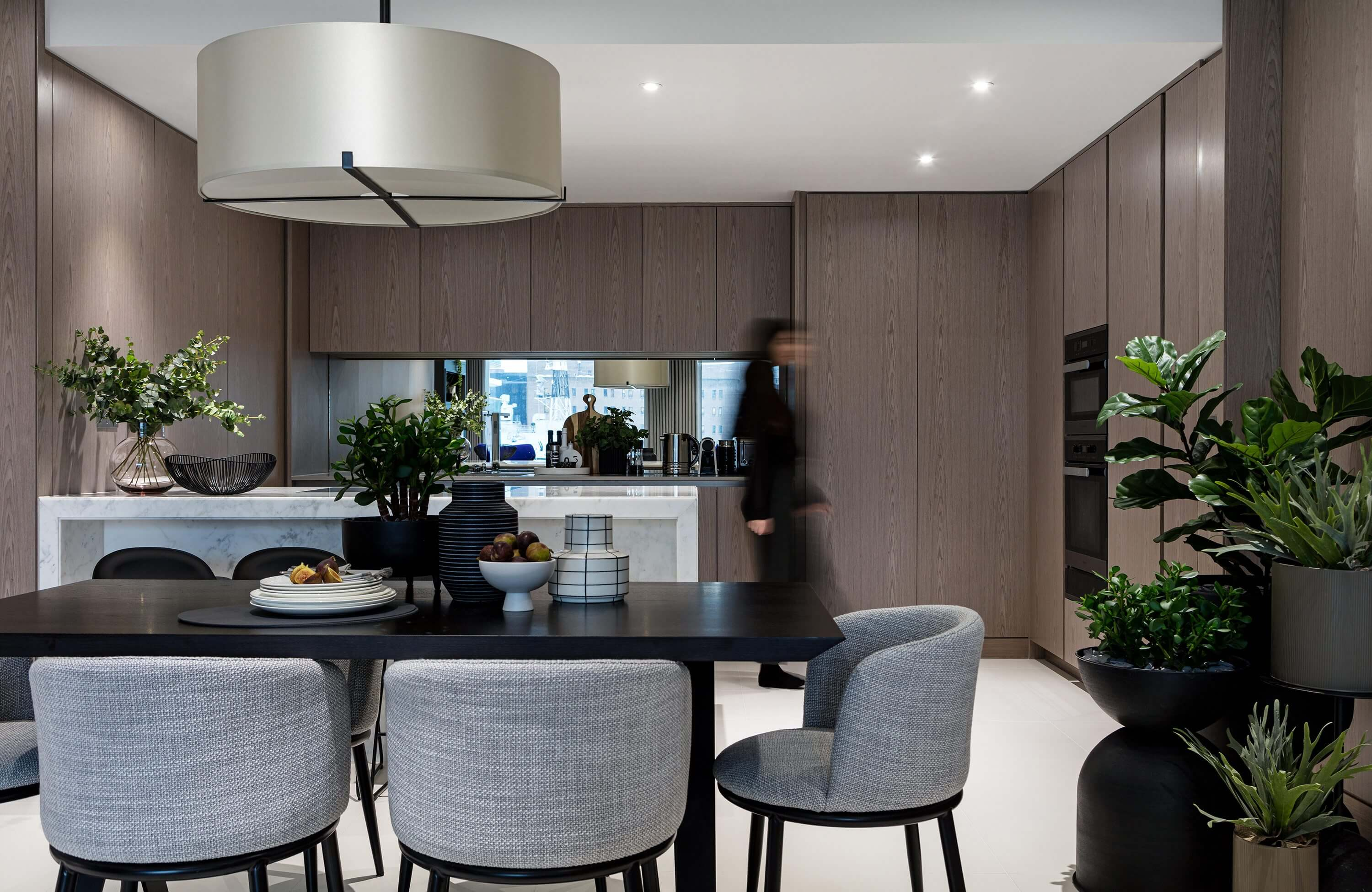 Honky Interior Design Luxury Apartment Hackney Road Dining and Kitchen 2