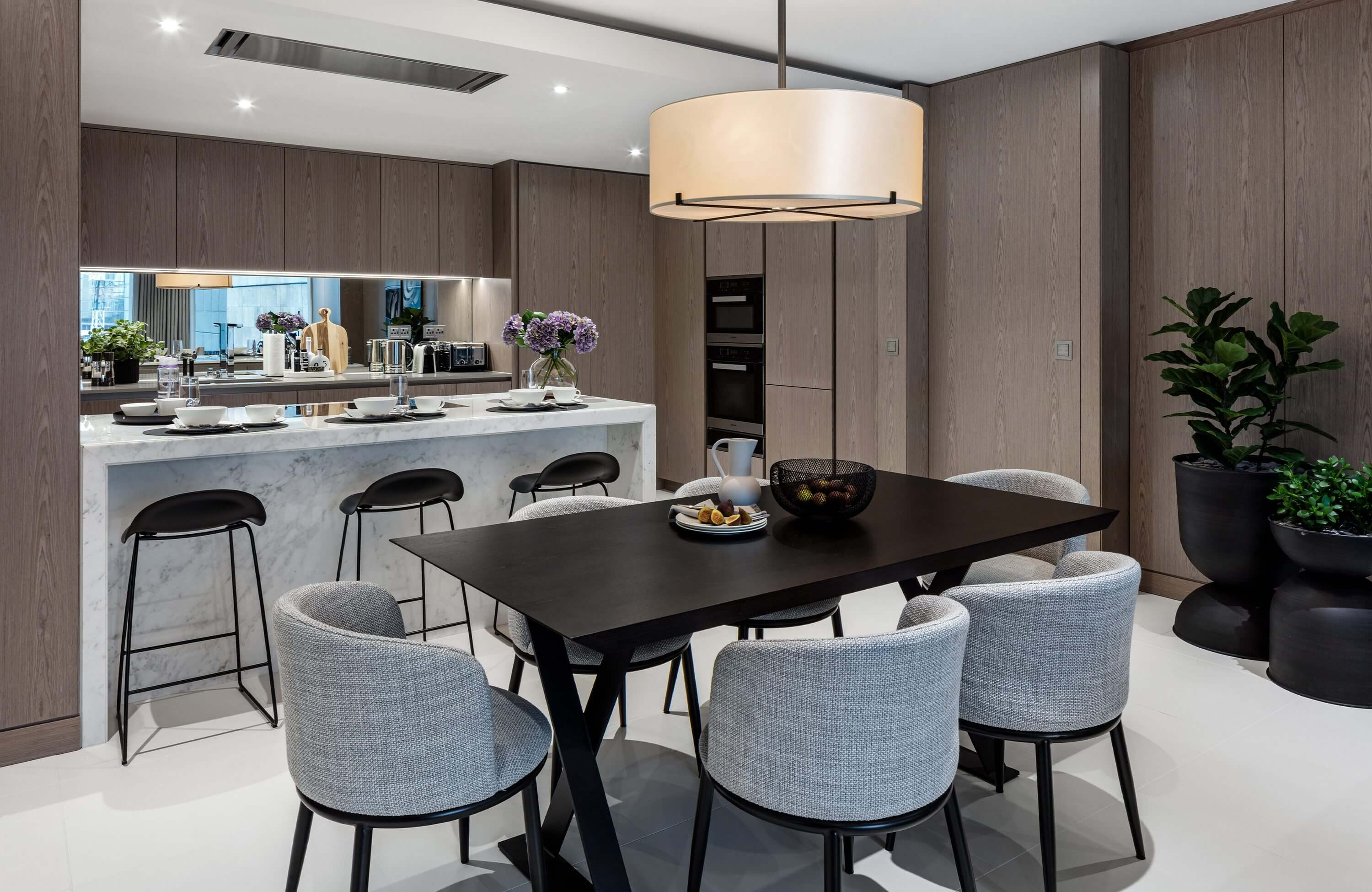 Honky Interior Design Luxury Apartment Hackney Road Dining and Kitchen