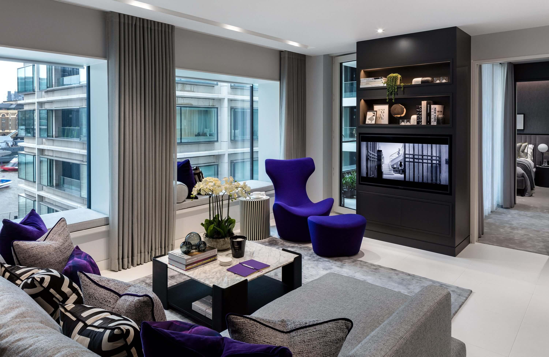 Honky Interior Design Luxury Apartment Hackney Road Living Room