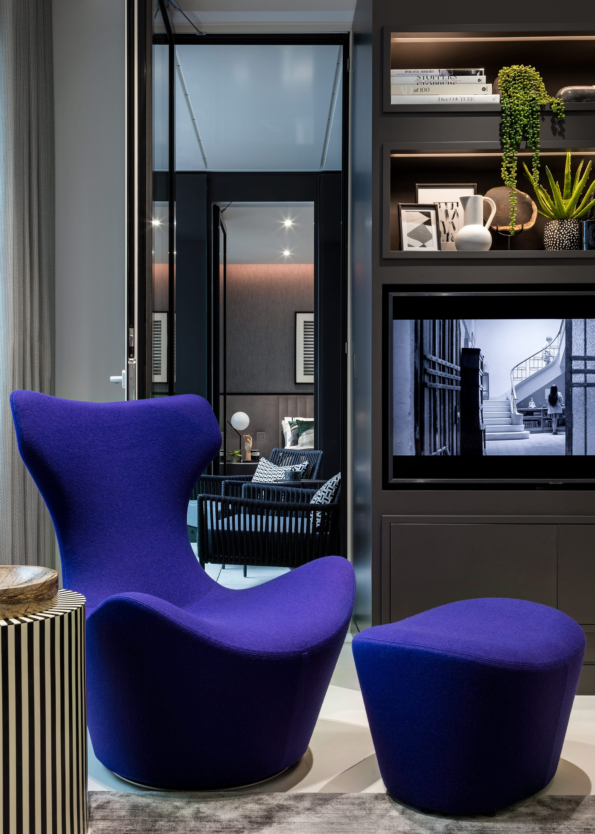 Honky Interior Design Luxury Apartment Hackney Road Living Room Detail 1a