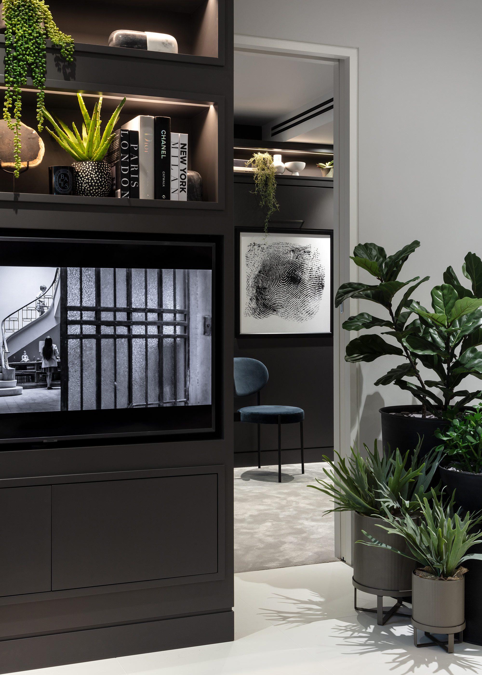 Honky Interior Design Luxury Apartment Hackney Road Living Room Detail 1b