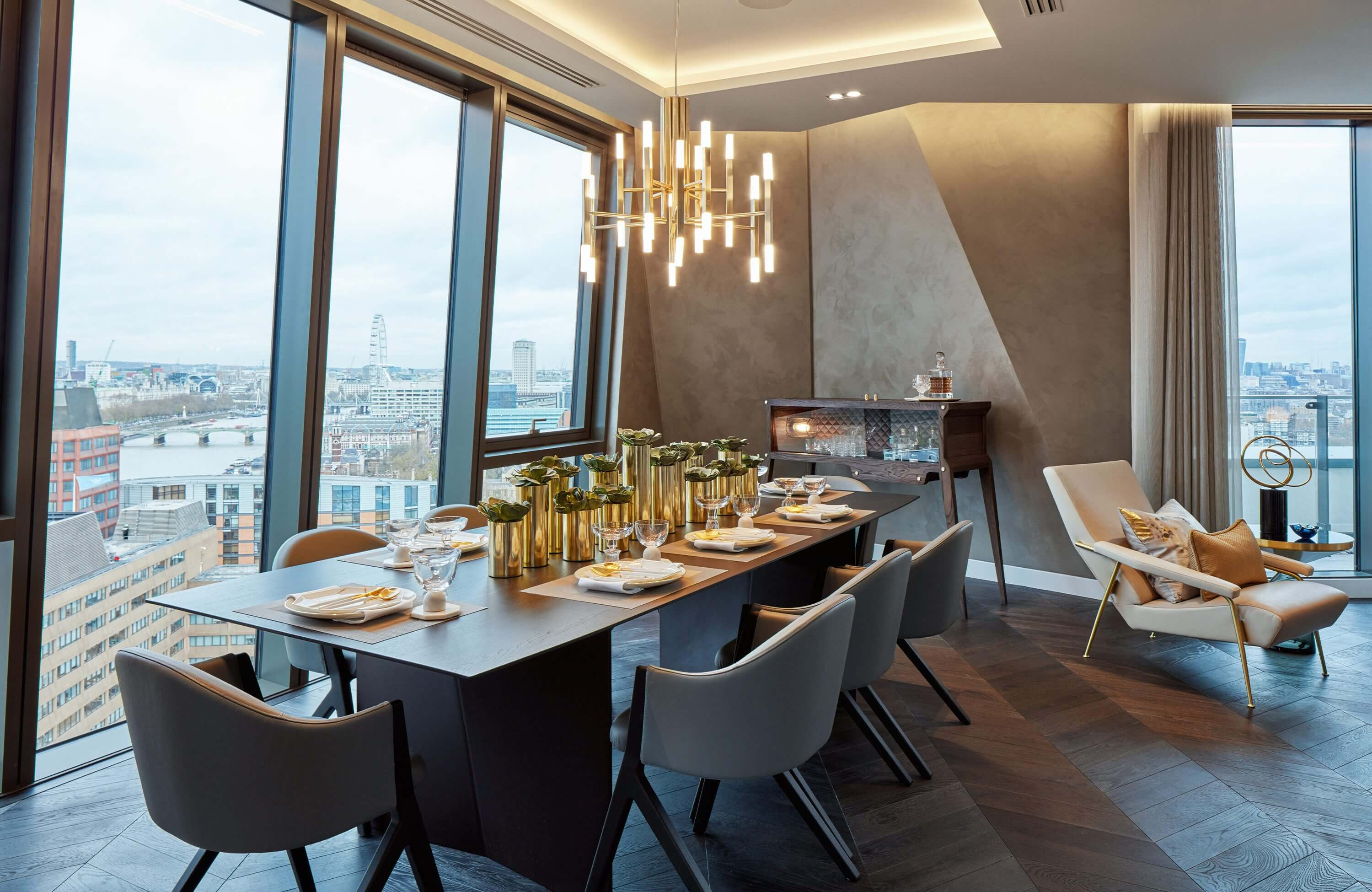 Honky Interior Design Parliament House London Dining Room