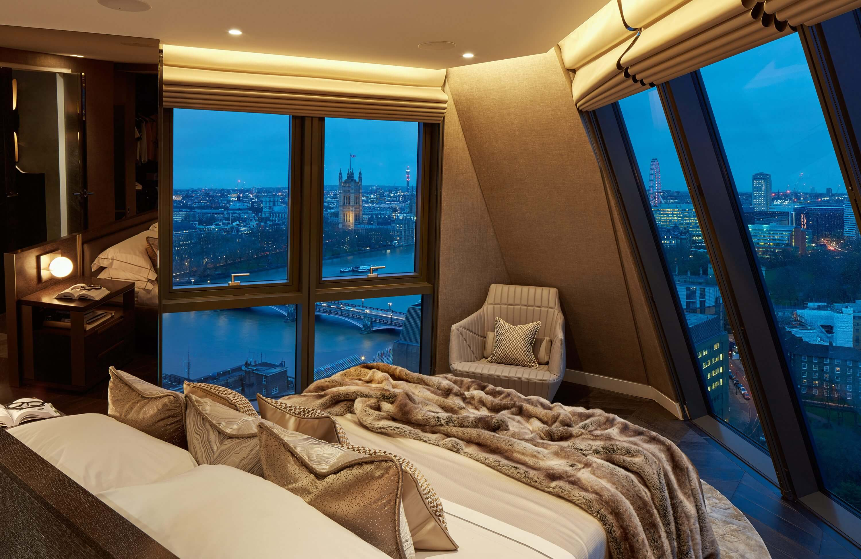 Honky Interior Design Parliament House London Master Bedroom 1