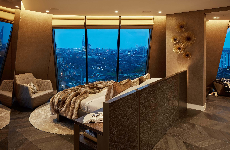 Honky Interior Design Parliament House London Master Bedroom 2