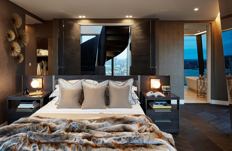 Honky Interior Design Parliament House London Master Bedroom