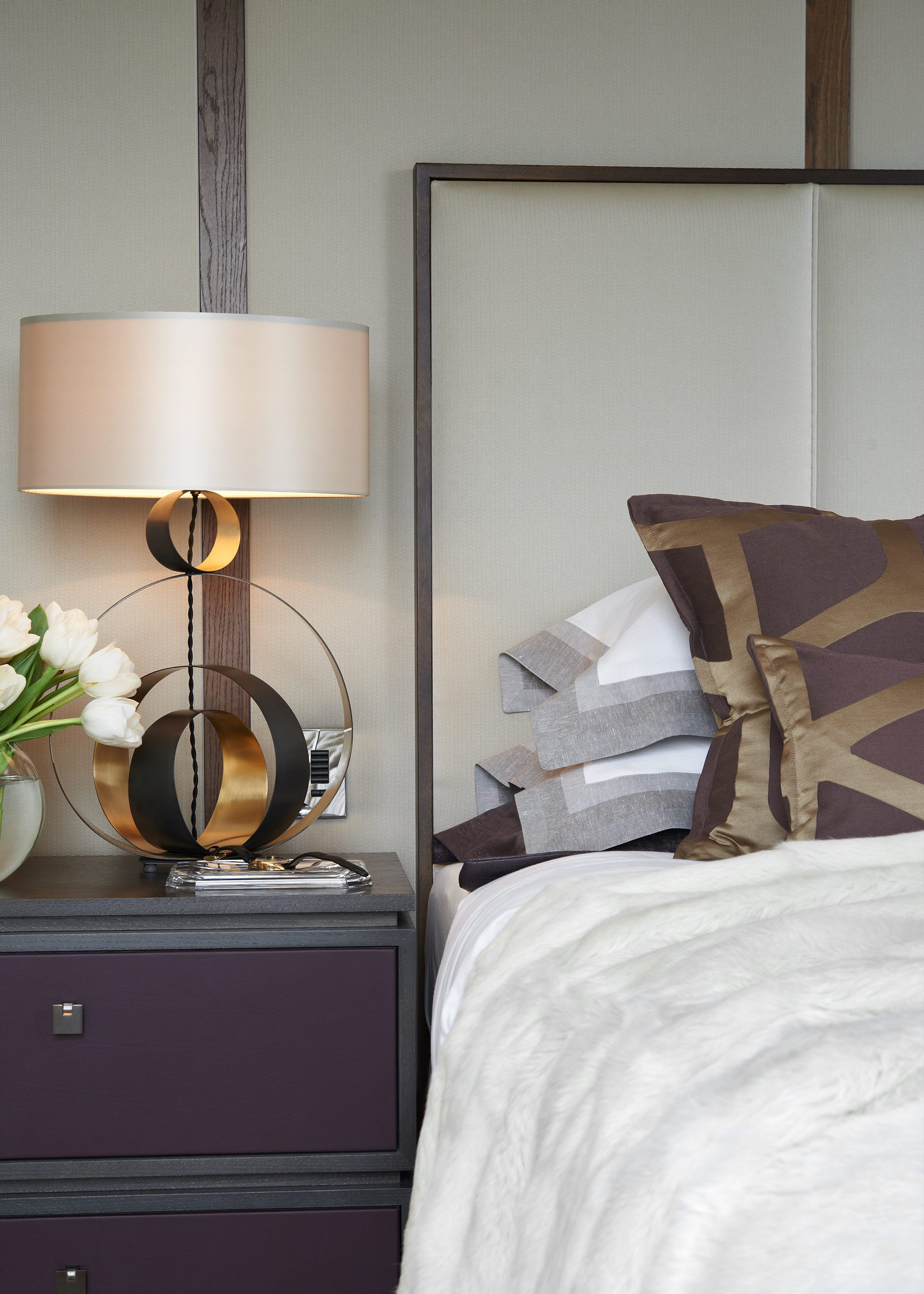 Honky Interior Design Trafalgar Square London Bedroom Detail