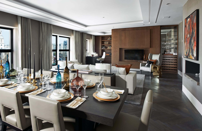 Honky Interior Design Trafalgar Square London Dining Room 1