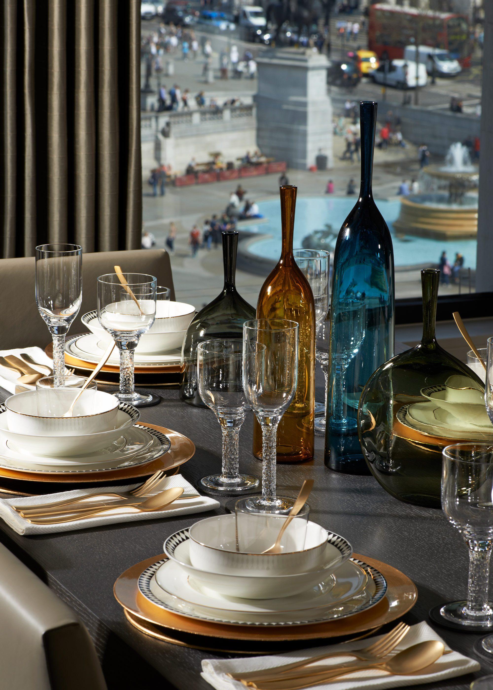 Honky Interior Design Trafalgar Square London Dining Room Detail