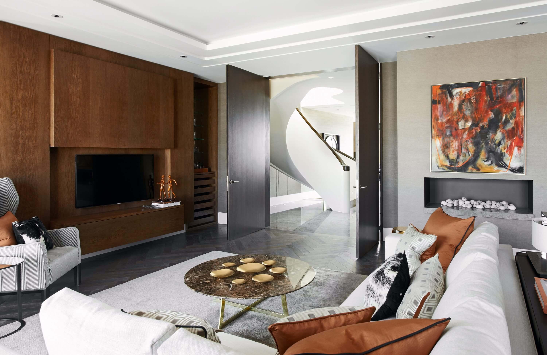 Honky Interior Design Trafalgar Square London Media Room 2a